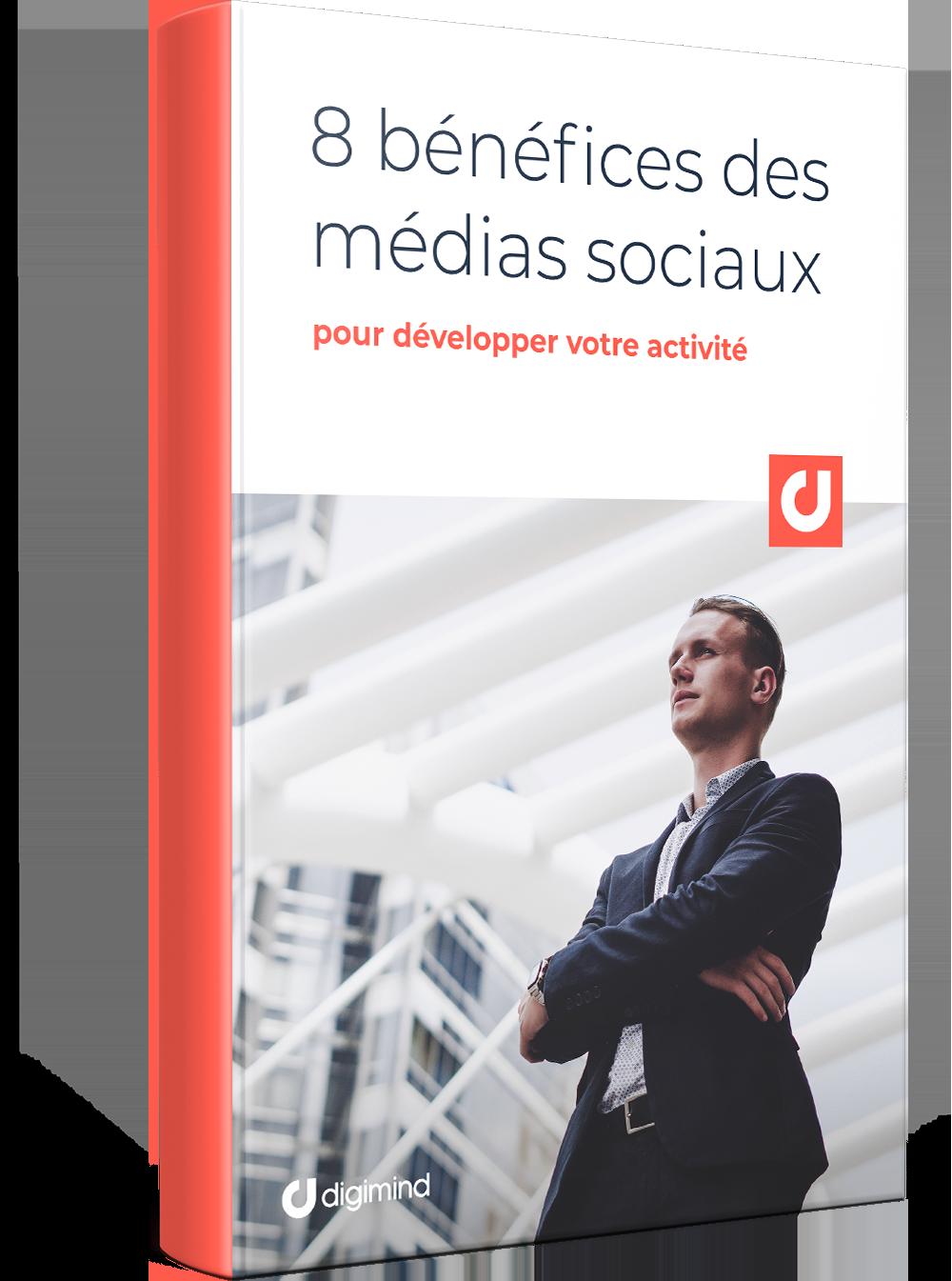 FR - 8 bénéfices des médias sociaux pour développer votre activité_3D BOOK